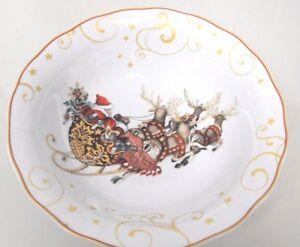 New TWAS THE NIGHT BEFORE CHRISTMAS Serving HUGE BOWL Williams Sonoma Santa