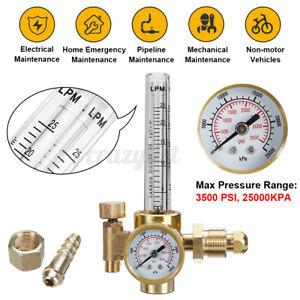 Argon CO2 Mig Tig Flow meter Welding Weld Regulator Gauge Gas Welder 0-3500PSI