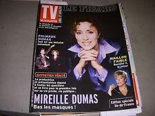 TV MAGAZINE FIGARO 16.12.2001 MIREILLE DUMAS MIOU MIOU BEATLES TAPIE GOLDMAN