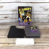 Nintendo NES Solomon's Key Game 1987 Box Case TESTED and WORKS Authentic EUC