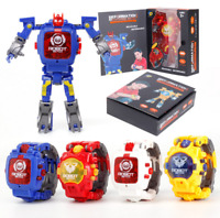 2 in 1 Transformers Electronic Watch Manual Transformation Robots Toys Children