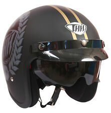 THH - Open Face Helmet - T 383 - Grey Legend