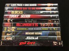 Bruce Willis 10 Dvd Lot Die Hard, Sin City, Sixth Sense, The Jackal