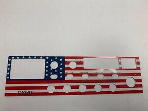 Galaxy DX-99V Metal American Flag Faceplate Galaxy CB Radio