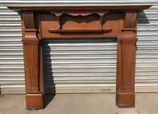 Original Edwardian Art Nouveau carved Oak fire surround fireplace
