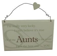 MEJOR Aunt Placa - Gran Regalo SPECIAL Aunt Cumpleaños/Regalo De Navidad