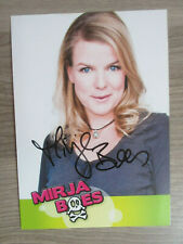 Mirja Boes original handsignierte Autogrammkarte / T5