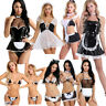 Sexy Women Maid Set G-string Dress Lingerie Babydoll Maidservant Costume Cosplay