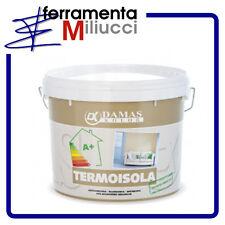 TERMOISOLA - PITTURA TERMOISOLANTE ANTICONDENSA ANTIMUFFA - DAMASKOLOR - 4 LT