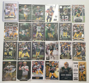 Aaron Rodgers (45) card lot w/ inserts no duplicates 2008-2021 Green Bay Packers