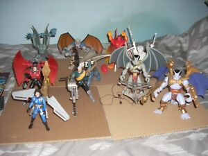 Gargoyles action figures lot of 11 Kenner 1995 with backing cards