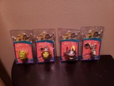 SHREK THE THIRD COMPLETE  SET FOAMHEADS 4 IN 1 TOPPER NIP - 2007 Keychain 4 lot