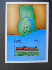 Ghana 1999 Ghana Railways question Miniature Sheet SG allemande MS1683 train à vapeur neuf sans charnière