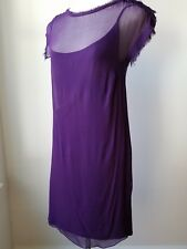 Lanvin Purple Chiffon/Cotton Sleeveless Dress  Size L