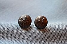 Pair of 1885 Cuff Buttons-Modified for 1902 Use on Caps