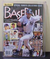 1999 Beckett Baseball Monthly Yankees Edition February Derek Jeter Magazine MINT