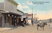 Tiajuana Mexico Typical Mexican Street Scene Curio Store Antique Postcard K23535