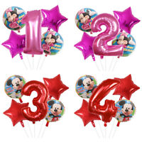 Mickey Minnie Mouse 5 Birthday Foil Helium Balloons Birthday party AGE 1-9