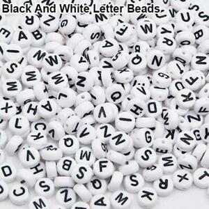 100 Pcs Spacer Acrylic Beads Cube Alphabet Letter Bracelet DIY Jewelry Making