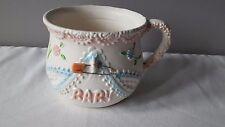 Vintage Napco Baby Girl Nursery Planter Mug w/Diaper Pin #8506