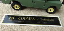 Land Rover Triumph Jaguar Daimler Coombs of Guildford Dealer Decal Sticker