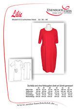Kleider Schnittmuster Größe 36 - 46  Mehrgrößenschnitt mit Naht