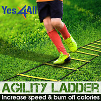 Yes4All Set 8 12 20 Agility Ladder Speed Training Adjustable Rung with Carry Bag
