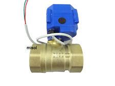 "Motorkugelhahn Ventil Motorized valve brass G1 1/4"" DN32 (reduce port) 2 way,12V"