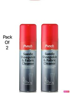 Punch Sheepskin Suede Fabric Shoe Boot UGG Cleaner Spray Reviver pack of 2