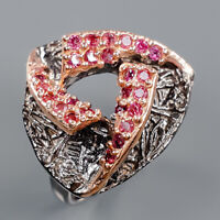 Rhodolite Ring Silver 925 Sterling Fine Jewelry Design Size 8.5 /R140756