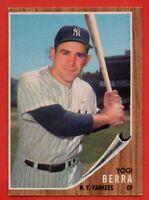 1962 Topps #360 Yogi Berra EX+ WRINKLE MARKED New York Yankees FREE SHIPPING HOF