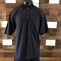 Lanvin Italy Classique Polo Golf Shirt Classic Fit 100% Cotton Mens Sz XL