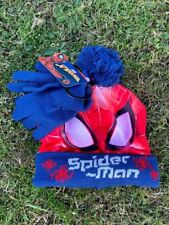Marvel Spiderman hat and gloves set one size