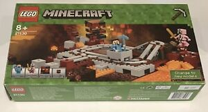LEGO Minecraft The Nether Railway 21130 box instructions some sealed contents