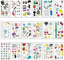 5Sheets Kids Safety Waterproof Temporary Removable Tattoo Sticker Body ArtBLBJ