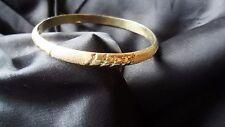 Armreif Armband Armschmuck aus 585 Gold Gelbgold, verziert, 5 mm ,9,17 g,6,5 cm