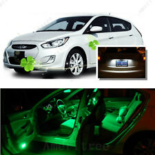 For Hyundai Accent 12-16 Green LED Interior Kit +Xenon White License Light LED