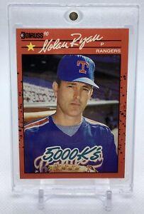 NOLAN RYAN 1990 Donruss 5000K ERROR Card #659 NO DOT Inc RARE Misprint Rangers