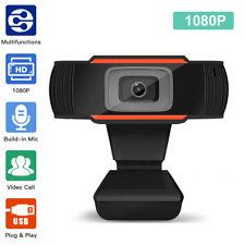 Webcam Kamera 1080P HD USB 2.0 3.0 Mit Mikrofon für PC Computer Laptop Windows