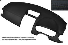 Negro Stitch Dash Dashboard Leather Skin Tapa se ajusta Mitsubishi Colt 2004-2008