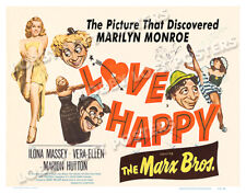 LOVE HAPPY LOBBY CARD POSTER HS 1953-R MARX BROTHERS MARILYN MONROE