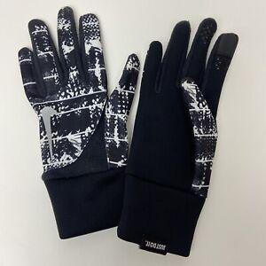 Nike Women's Black and White Printed Element Thermal 2.0 Run Gloves Medium Size