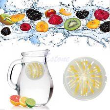 Fruit Water Infuser Ball Plastic Infusing Sports Lemon Juice Filter Strainer New