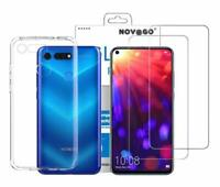 Huawei Honor View 20 Coque Gel souple + 2 films protection écran en verre trempé