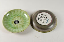 Two Vintage Portmadoc pottery dripglaze dishes signed