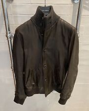 Genuine gabbana brown leather jacket