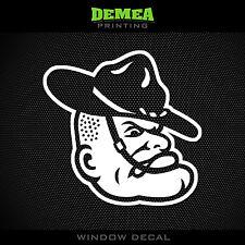 "Texas A&M - Sergeant Mascot - NCAA - White Vinyl Sticker Decal 5"""