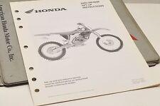 2004 CRF450R CRF450 R GENUINE Honda Factory SETUP INSTRUCTIONS PDI MANUAL S0211