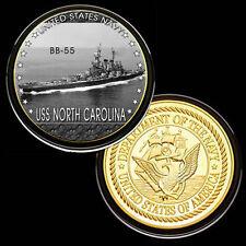USS North Carolina (BB-55) GP Challenge pinted Coin