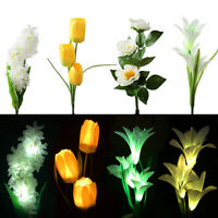 LED Solar Powered Flower Stake Lights Waterproof Outdoor Garden Patio Path Lamps